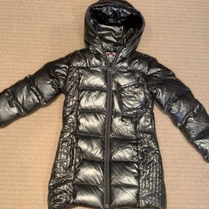Appaman Silver Girls Down Coat - Size 7 - like new